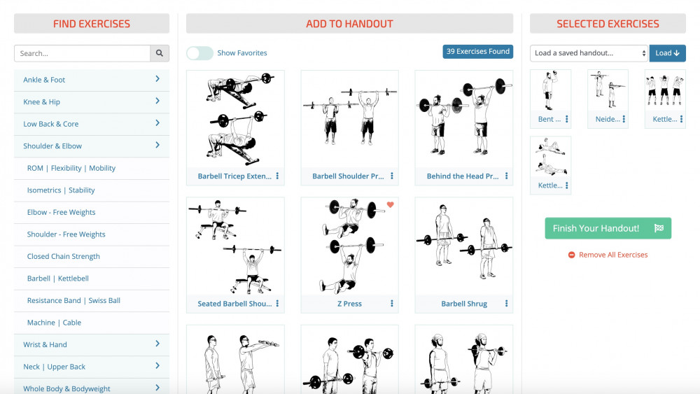 curated exercises